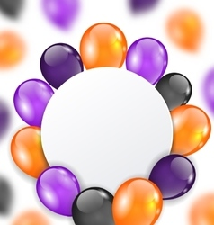 Halloween card with orange violet and black vector