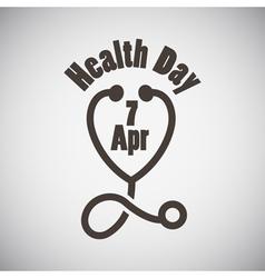 Health Day Emblem vector image