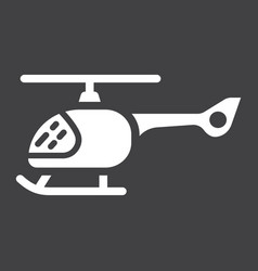 helicopter glyph icon transport and air vehicle vector image