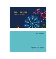 Holiday fireworks horizontal corner frame pattern vector