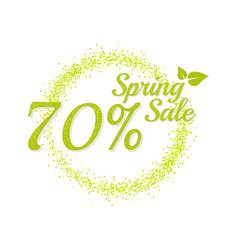 Inscription spring sale vector