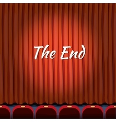 Movie ending screen concept background in vector image