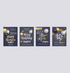 new year and christmas brochure flyer invitation vector image vector image