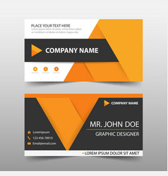 Orange corporate business card name card template vector