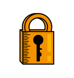 padlock security system image vector image