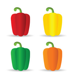 pepper food large set in color vector image