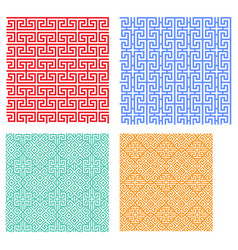 Seamless modern geometric pattern in chinese style vector