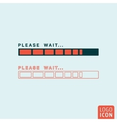 Status bar icon isolated vector image vector image