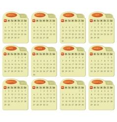 Tabbed 2013 Calendar vector image