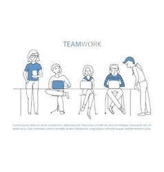 Teamwork team concept vector