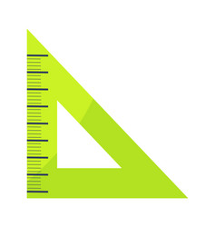 triangular shaped green ruler vector image