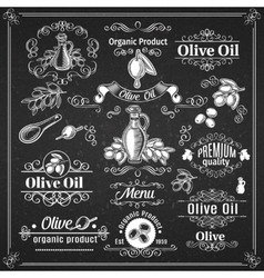 Vintage elements and page decoration chalkboard vector