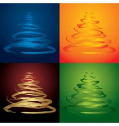 xmas trees vector image