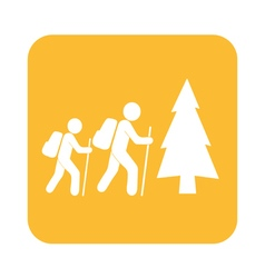 Forest tourists icon vector