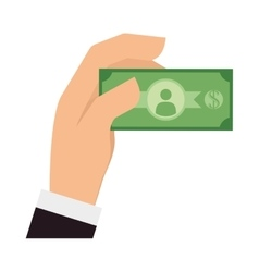 Bill green money financial item design vector