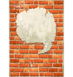 Brick wall with bubble for speech vector