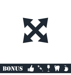 Four arrows icon flat vector