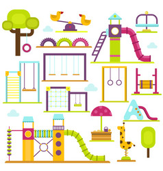 Children playground kids time vector