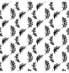 Natural plants brush seamless pattern vector
