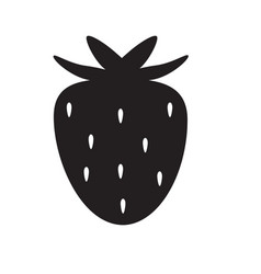 Strawberry icon on white background strawberry vector