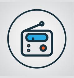 radio colorful outline symbol premium quality vector image