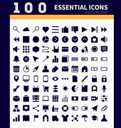 essential webapp icons vector image