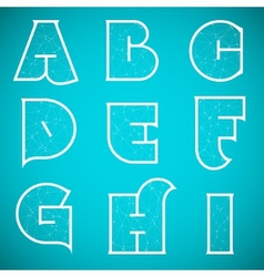 Connections Alphabet Font Set 1 A to I vector image