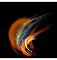 Burn flame fire abstract background vector