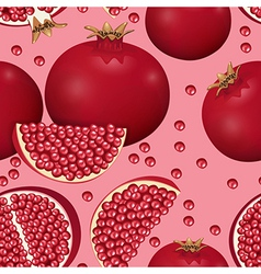Seamless texture of pomegranate vector