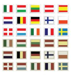 Stamp flags vector