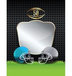 American football helmets emblem vector