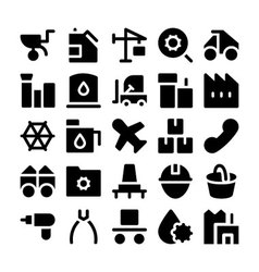 Industrial colored icons 5 vector