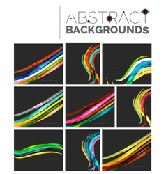 Pack of abstract backgrounds vector