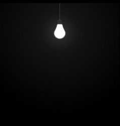 Glowing light bulb in a dark room eps 10 vector