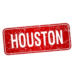 Houston red stamp isolated on white background vector
