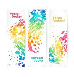 Abstract multicolored geometric background set vector