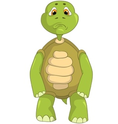 Sad turtle vector