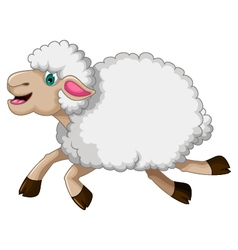 funny sheep cartoon vector image