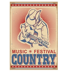 American music festival background with musician vector