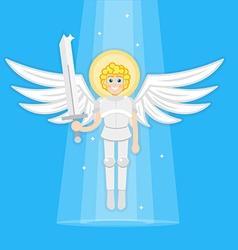 Archangel with sword vector