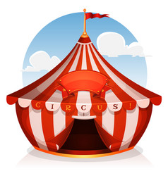 Big top circus with banner vector