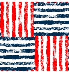 Blue red and white striped woven grunge seamless vector