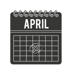 Calendar timestamped tax isolated icon design vector