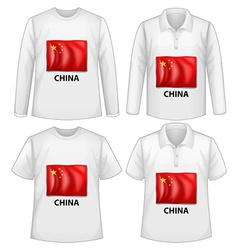 China shirt vector image