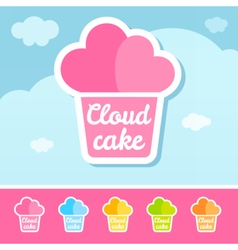 Cloud Cake Logo vector image vector image