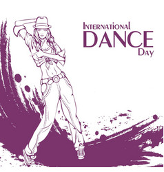 dance day street dance vector image