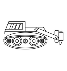 excavator with hydraulic hammer icon outline vector image