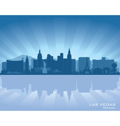 Las vegas nevada skyline vector
