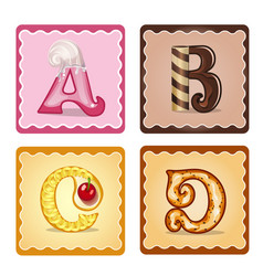 letters abcd candies vector image