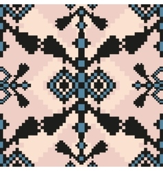 Pixel ethnic seamless pattern ideal for vector